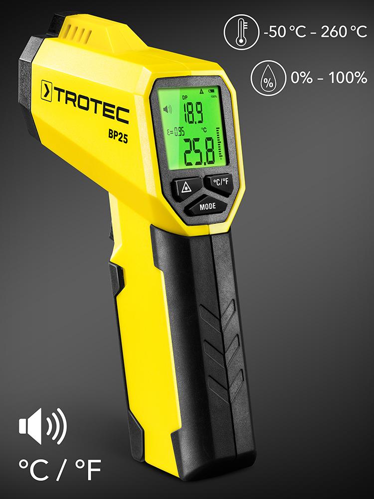 Versione Aggiornata del Termometro A Infrarossi Industriale Termometro Digitale Senza Contatto Termometro Elettronico juman634 Termometro Industriale Ad Alta Precisione