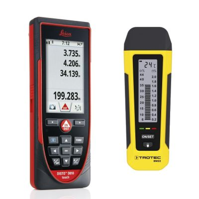 Misuratore di distanza Leica Disto D810 touch + Indicatore di umidità BM22