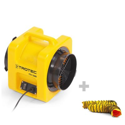Ventilatore assiale TTV 1500 + Tubo di trasporto dell'aria SP-T 203 mm