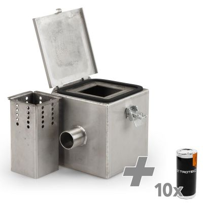 Camera fumogena in acciaio inox V2 + 10 cartucce fumogene (bianche)