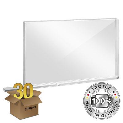 Pannelli in vetro acrilico per la scuola con bordo protettivo per l'arresto di aerosol SMALL 800 x 69 X 500 - Confezione da 30 pezzi