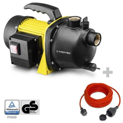 Pompa da giardino TGP 1000 E + prolunga di qualità da 15 m / 230 V / 1,5 mm²