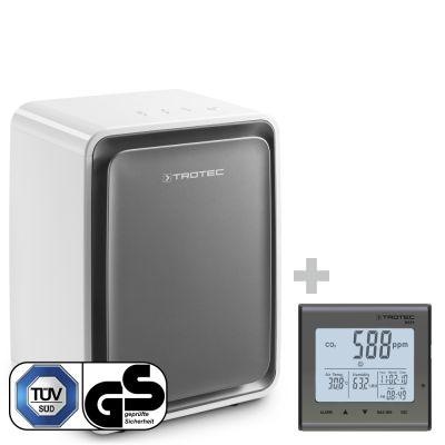 Deumidificatore TTK 24 E WS + Rilevatore della qualità dell'aria (CO₂) BZ25