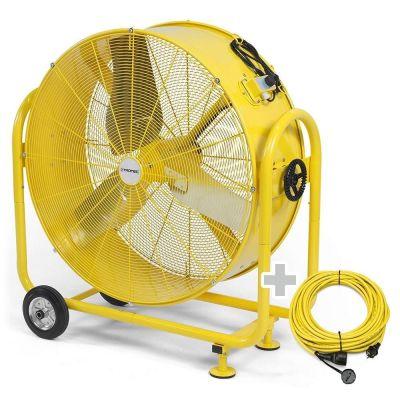 Ventilatore a tamburo TTW 35000 S + Cavo di prolunga professionale 20 m / 230 V / 2,5 mm²