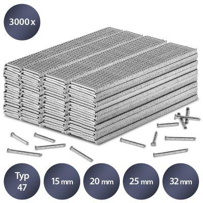 Set di chiodi per imbastitura Typ 47, 15 mm lunghezza(3000 pz.)
