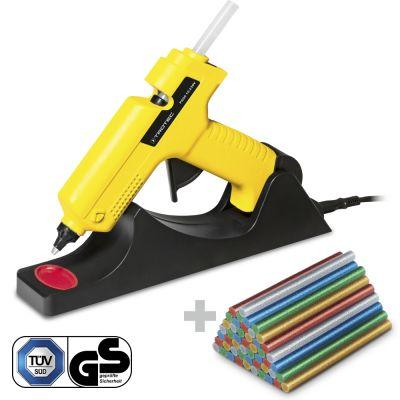 Pistola incollatrice a caldo PGGS 10-230V + 50 Stick di colla a caldo glitter (Ø 11 mm)