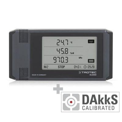 Registratore di dati climatici professionale DL200D - calibrato secondo DAkkS D.2102