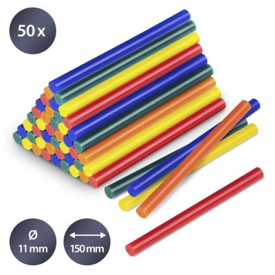 Confezione di stick di colla a caldo colorati, 50 pezzi (Ø 11 mm)