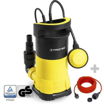 Pompa a immersione per acque chiare TWP 7505 E + prolunga di qualità da 15 m / 230 V / 1,5 mm²