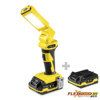 Luce da lavoro a batteria PWLS 10-20V + multi-batteria di ricambio Flexpower 20V 2,0 Ah