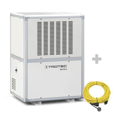 Deumidificatore industriale DH 95 S + Prolunga professionale di 20 m / 230 V / 2,5 mm²
