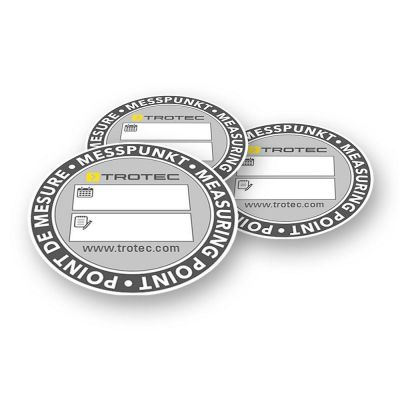 Etichette adesive per i risultati di misurazione (100 pezzi)