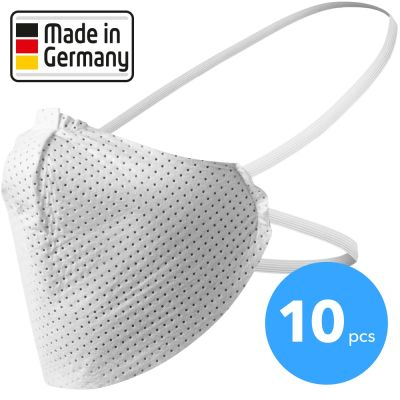 Maschera facciale, maschera per naso e bocca made in Germany 10 pezzi