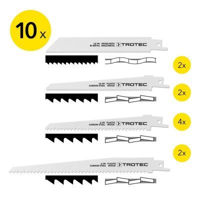 Set di 10 lame per sega a gattuccio per taglio di legno, metallo e plastica
