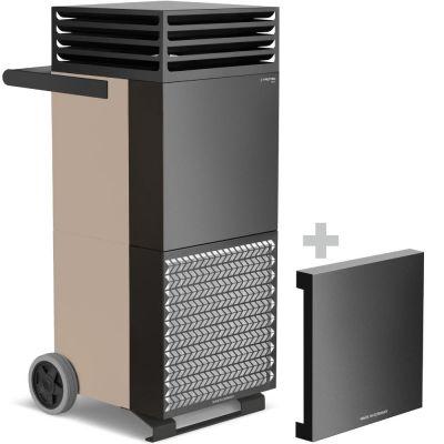 Depuratore d'aria ambiente TAC M in bronzo/nero + cappa di isolamento acustico