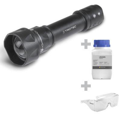 Torcia UV-Torchlight 15F + occhiali di protezione + fluoresceina
