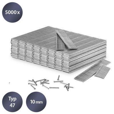 Set di chiodi tipo 47, lunghi 10 mm (5000 pezzi)