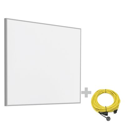 Pannello radiante a infrarossi  TIH 400 S + Prolunga 20 m / 230 V / 2,5 mm² - Made in Germany