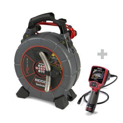 Sistema d'ispezione SeeSnake microReel + Fotocamera digitale per ispezione micro CA-350x