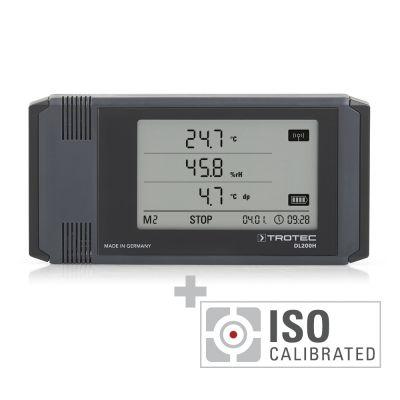 Registratore di dati climatici professionale DL200H - calibrato secondo ISO.2102
