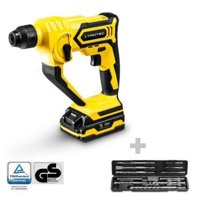 Martello perforatore a batteria PRDS 10-20V + Set di accessori per martello e scalpello pneumatico
