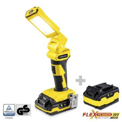 Luce da lavoro a batteria PWLS 10-20V con batteria di ricambio Flexpower 20V 4,0 Ah
