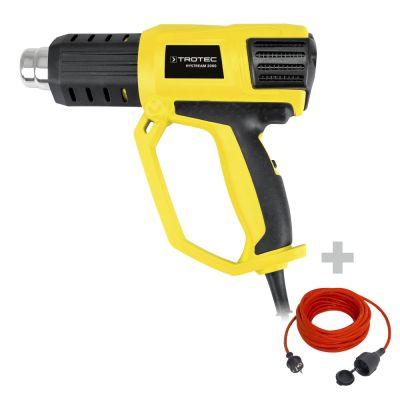 Pistola ad aria calda HyStream 2000 + Cavo di prolunga di alta qualità 15 m / 230 V / 1,5 mm²