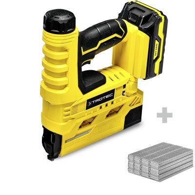 Graffatrice a batteria PTNS 10-20V + Set di chiodi a graffettare tipo 47, lunghezza 15-32 mm