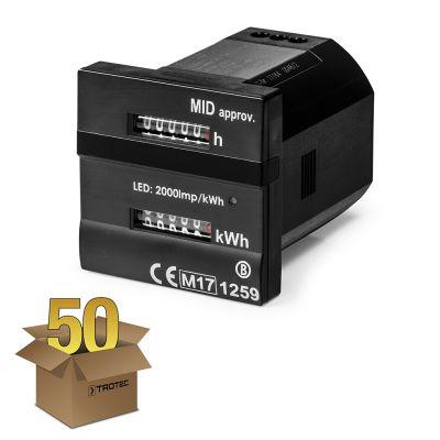Contatore doppio - per le ore operative e kilowattora conforme alla direttiva MID confezione 50 pz.