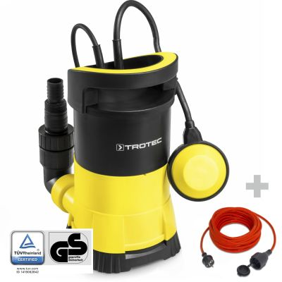 Pompa a immersione per acque chiare TWP 4005 E + Prolunga di alta qualità 15 m / 230 V / 1,5 mm²