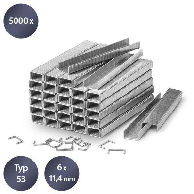 Set di graffette tipo 53, lunghezza 6 mm (5000 pezzi)