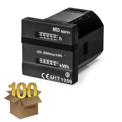 Contatore doppio - per le ore operative e kilowattora conforme alla direttiva MID confezione 100 pz.