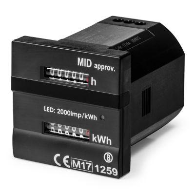 Contatore doppio - per le ore operative e kilowattora conforme alla direttiva MID