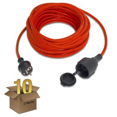 Prolunga di alta qualità 15 m / 230 V / 1,5 mm² confezione 10 pz.