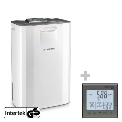 Deumidificatore ad adsorbimento TTR 57 E +  Rilevatore della qualità dell'aria (CO₂) BZ25