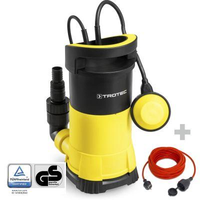 Pompa a immersione per acque chiare TWP 9005 E + prolunga di qualità 15 m / 230 V / 1,5 mm²