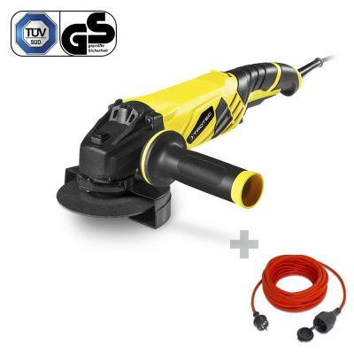 Smerigliatrice angolare PAGS 10-125 + Cavo di prolunga di alta qualità 15 m / 230 V / 1,5 mm²
