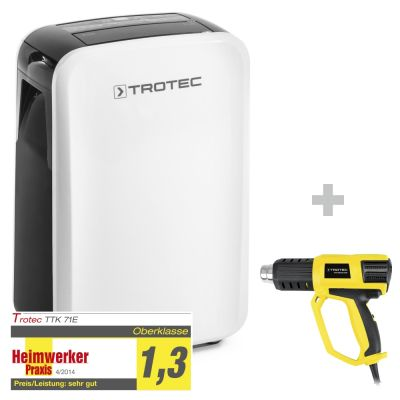 Deumidificatore TTK 71 E + Pistola ad aria calda HyStream 2000