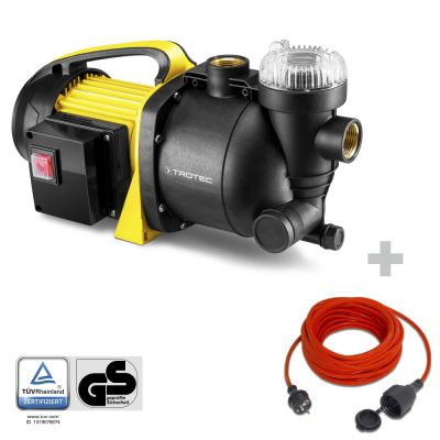 Pompa da giardino con filtro TGP 1005 E + Cavo di prolunga di alta qualità 15 m / 230 V / 1,5 mm²