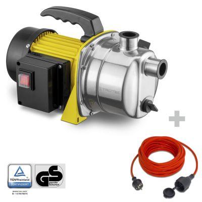 Pompa da giardino TGP 1000 ES + Cavo di prolunga di alta qualità 15 m / 230 V / 1,5 mm²