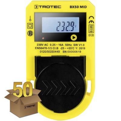 Misuratore del consumo energetico BX50 MID, confezione da 50 unità