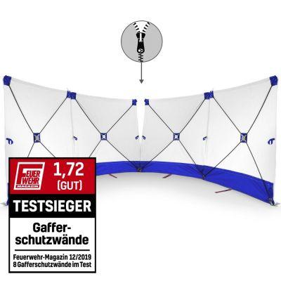 Parete fendivista VarioScreen 4*180*180 divisibile al centro, blu
