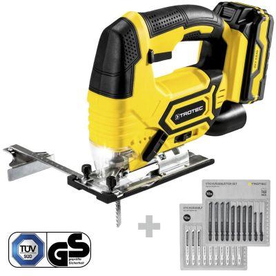 Seghetto alternativo a batteria PJSS 11-20V + set lame legno + set lame metallo