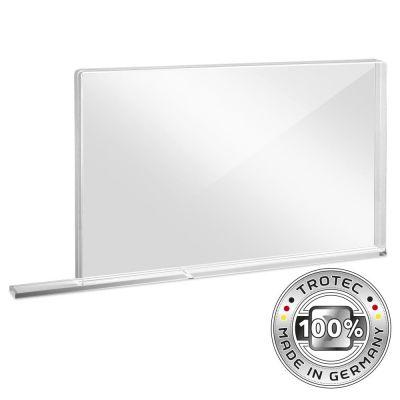 Parete protettiva scolastica in vetro acrilico con bordo di protezione aerosol SMALL 800 x 69 X 500