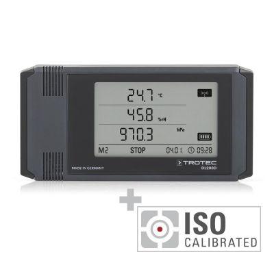 Registratore di dati climatici professionale DL200D - calibrato secondo ISO I.2102