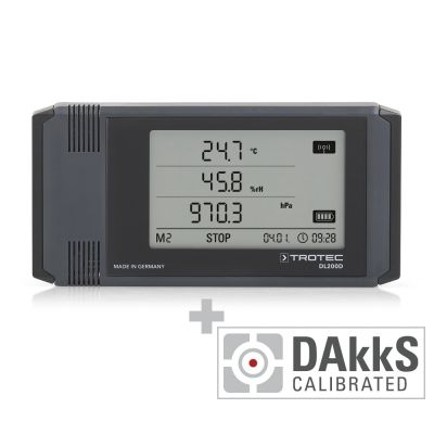 Registratore di dati climatici professionale DL200D - calibrato secondo DAkkS D.2101