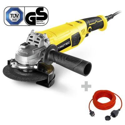 Smerigliatrice angolare PAGS 11-125 + Prolunga di alta qualità 15 m / 230 V / 1,5 mm²
