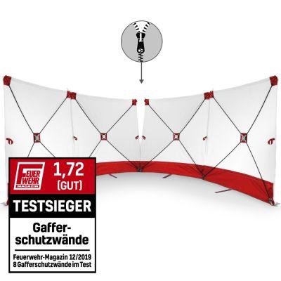 Parete fendivista VarioScreen 4*180*180 divisibile al centro, rossa