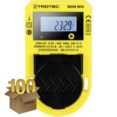 Misuratore del consumo energetico BX50 MID, confezione da 100 unità