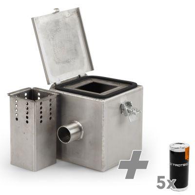 Camera fumogena in acciaio inox V2 + 5 cartucce fumogene (bianche)